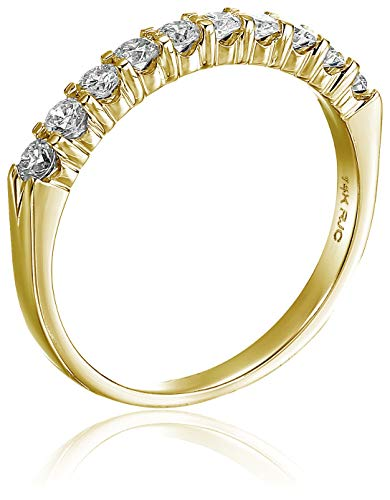 AGS CERTIFIED 1/2 cttw 14K Gold Diamond Wedding Band Near Colorless (H-I)
