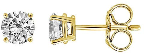 IGI Certified Diamond Stud Earrings for Men Set in 14K Gold, Premium Quality (Clarity I1I2)