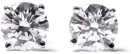 IGI Certified 1/3 cttw Round Cut 14K White Gold Diamond Stud Earrings for Women