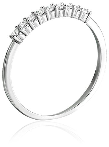 CERTIFIED 1/4 cttw Petite Diamond Wedding Band in 14K White Gold