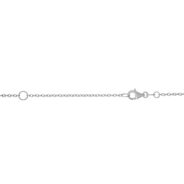 14k Gold White Finish 1.2mm Shiny Extendable Cable Chain Necklace With Lobster Clasp - 18 Inch