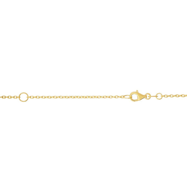 14k Gold Yellow Finish 1.2mm Shiny Extendable Cable Chain Necklace With Lobster Clasp - 18 Inch