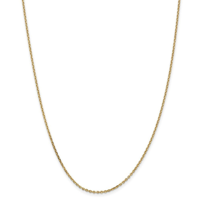 14k Yellow Gold 1.65mm Solid Link Cable Chain Necklace 22 Inch Pendant Charm Round Fine Jewelry Gifts For Women For Her