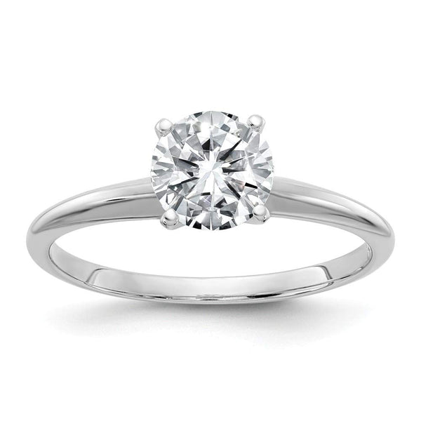 14k White Gold GIA Certified Diamond Solitaire Engagement Ring (F/SI1-0.18ct To 1.00Cttw)