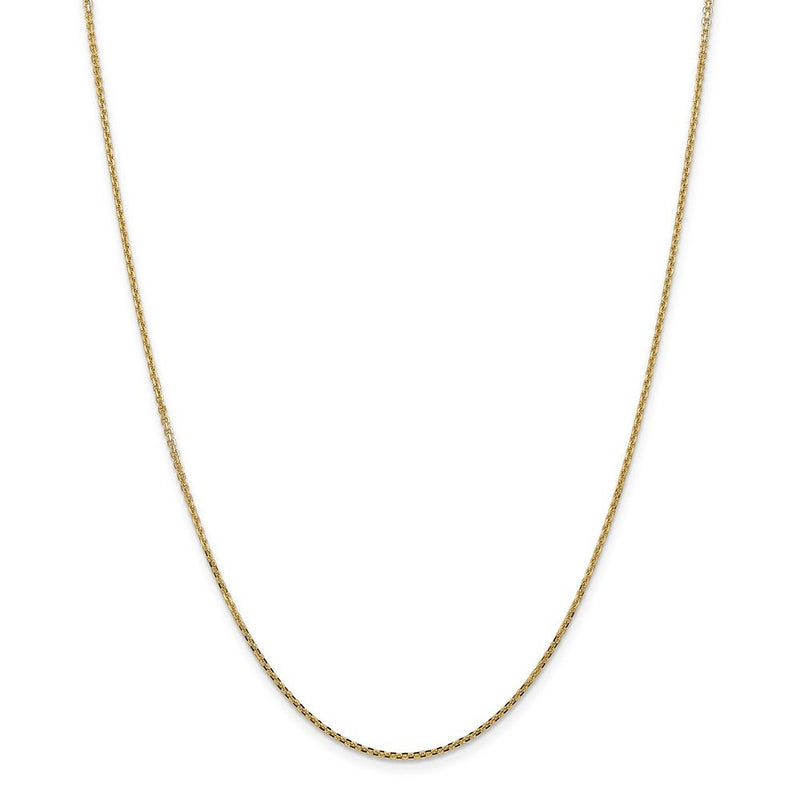 14k Yellow Gold 1.45mm Solid Link Cable Chain Necklace 22 Inch Pendant Charm Round Fine Jewelry Gifts For Women For Her