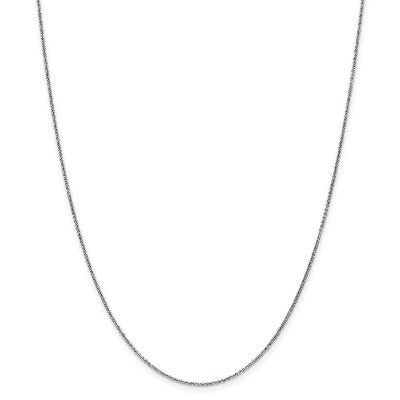 1mm 14k White Gold Link Cable Chain Necklace Pendant Charm