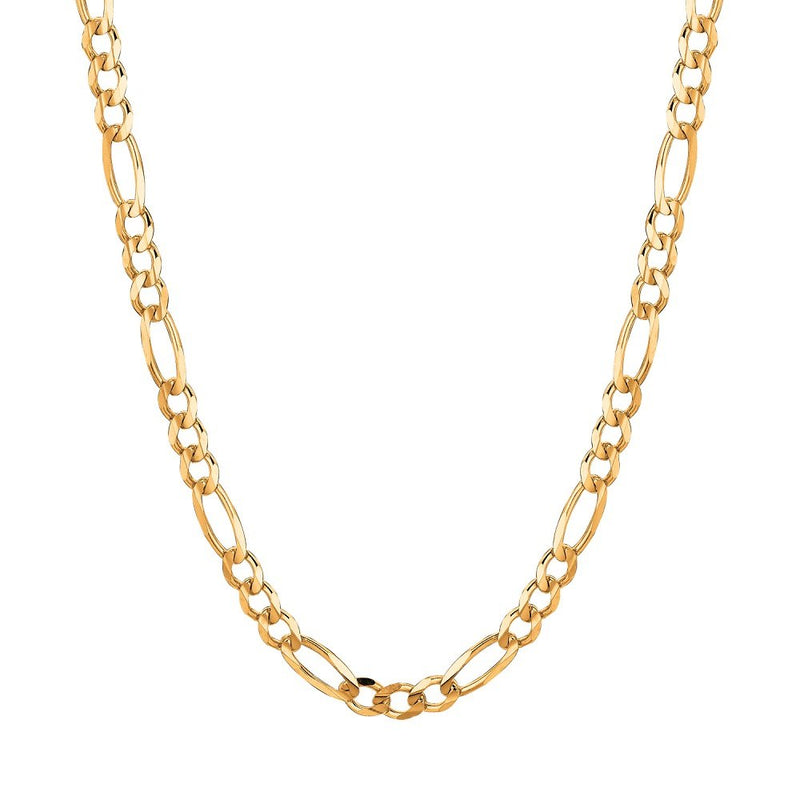 CERTIFIED 4mm 10Kt Gold Figaro Curb Link Chain/Necklace