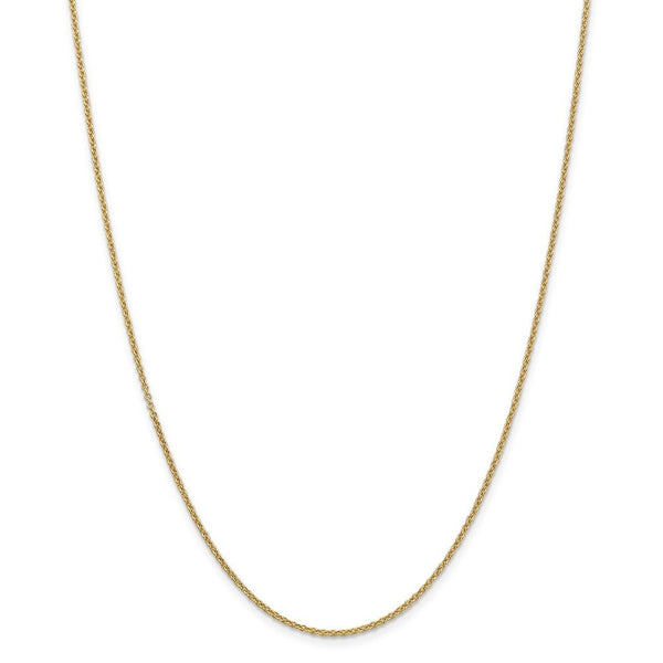 14k Yellow Gold 1.6mm Link Cable Chain Necklace 22 Inch Pendant Charm Round Fine Jewelry Gifts For Women For Her
