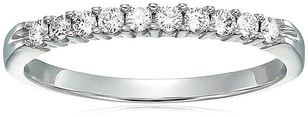 AGS Certified  | 1/3 cttw 14K Diamond Wedding Band Near Colorless H-I Color Prong Set