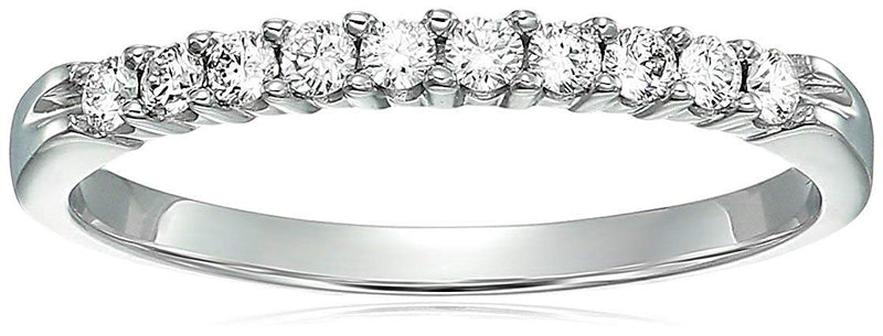 AGS Certified | 1/4 cttw I1-I2 Diamond Wedding Band 14K White Gold Near Colorless (H-I)