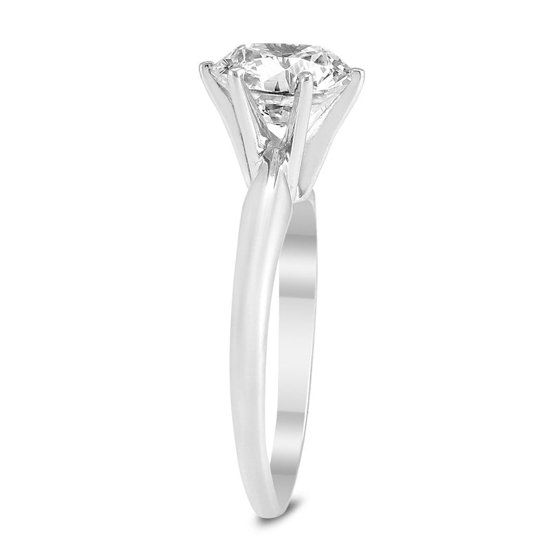 AGS | Certified 1 1/2 Carat Diamond Solitaire Ring in 14K White Gold
