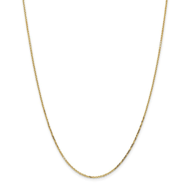 14k Yellow Gold 1.40mm Link Cable Chain Necklace 30 Inch Pendant Charm Round Fine Jewelry Gifts For Women For Her