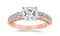 1.1 Carat 14K White Gold Past Present Future 3 Stone Princess Cut Channel Set GIA Certified Princess Cut Diamond Engagement Ring (0.6 Ct I Color SI2 Clarity Center Stone)