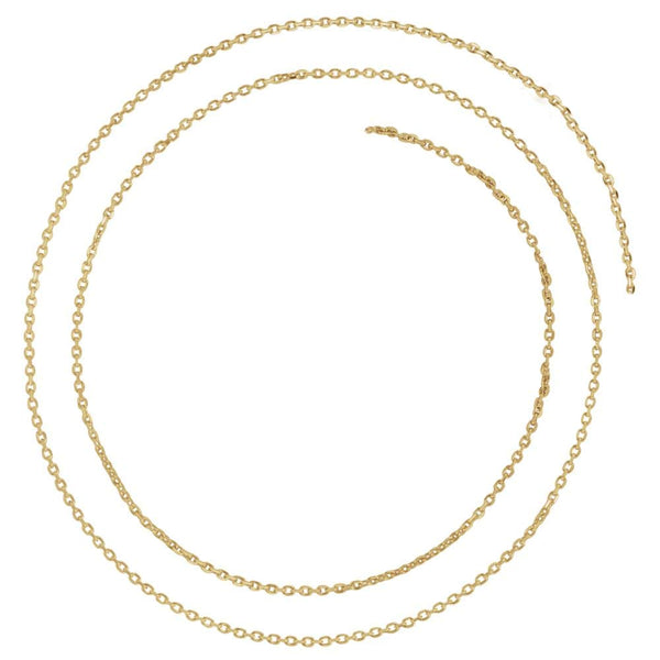 "14K Yellow Gold 1.4mm Diamond-Cut Cable 16"" Chain"