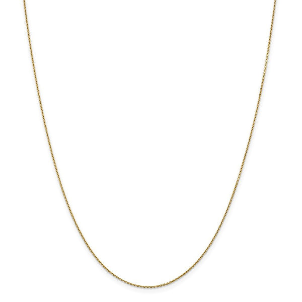 .90mm 14k Yellow Gold  Link Cable Chain Necklace Pendant Charm Round