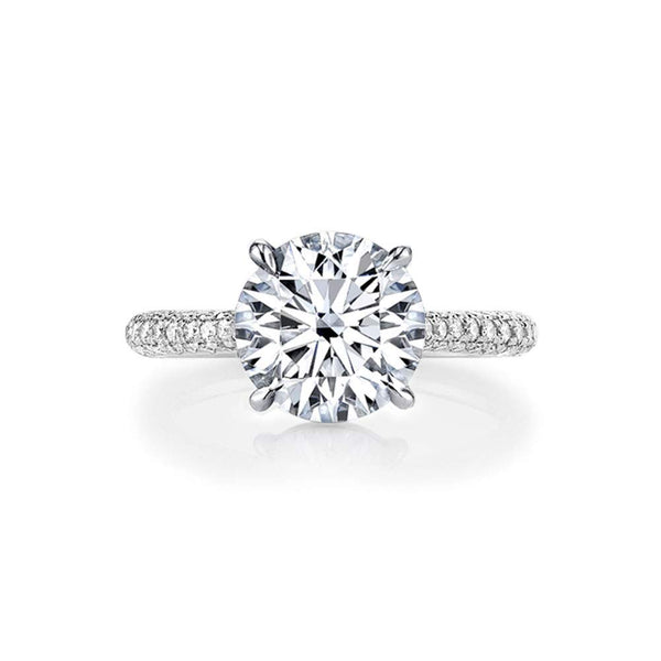 CERTIFIED 3 Carat Classic Round Cut CZ Cubic Zirconia Solitaire Engagement Rings