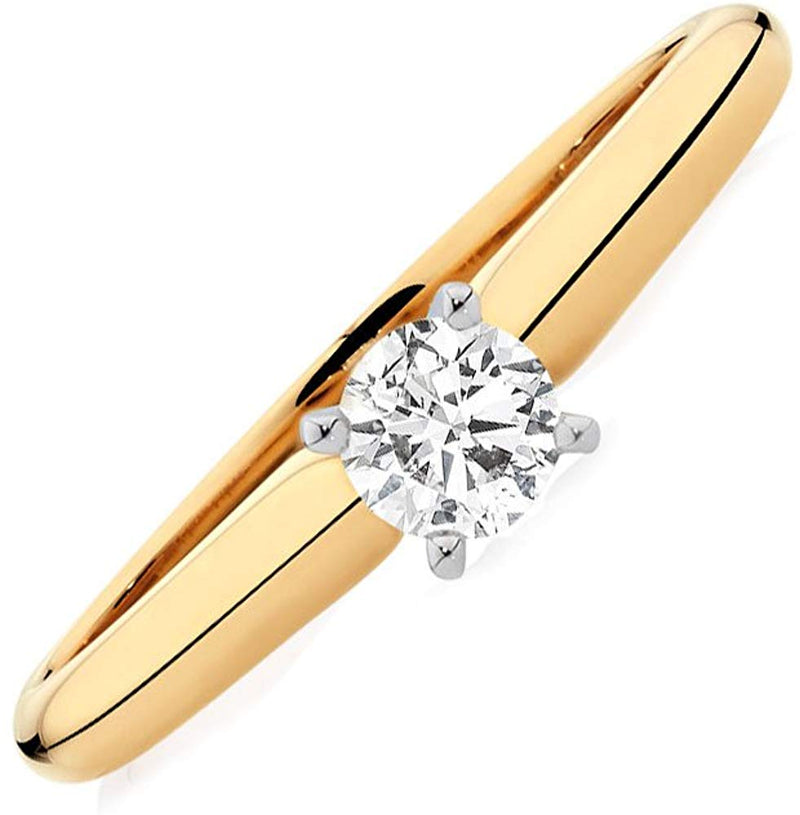 Certified 0.25 Ct. Diamond Solitaire Engagement Ring (H/SI1) White/Yellow Gold