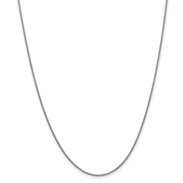 14k White Gold 1.5mm Solid Link Cable Chain Necklace 30 Inch Pendant Charm Fine Jewelry Gifts For Women For Her