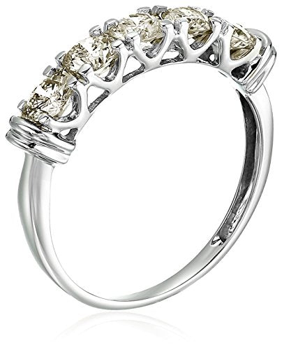 AGS CERTIFIED 1 cttw 5 Stone Diamond Wedding Engagement Ring 14K White Gold