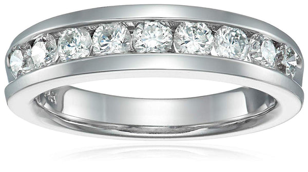 AGS CERTIFIED 1 cttw Diamond Wedding Band in 14K White Gold Near Colorless (G-H)