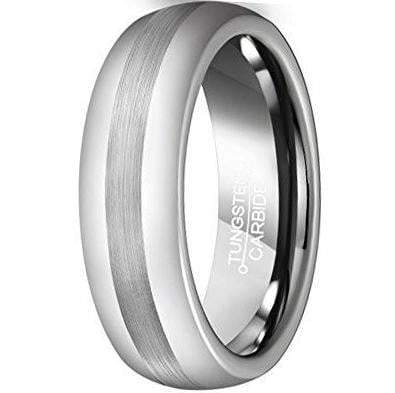 CERTIFIED 6mm Tungsten Ring Matte Brushed Center