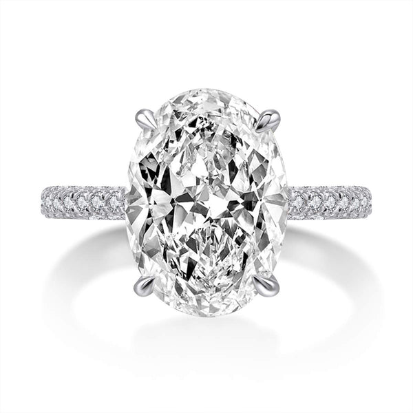 CERTIFIED 5 Carat 925 Sterling Silver Wedding Rings Cubic Zirconia Engagement Ring