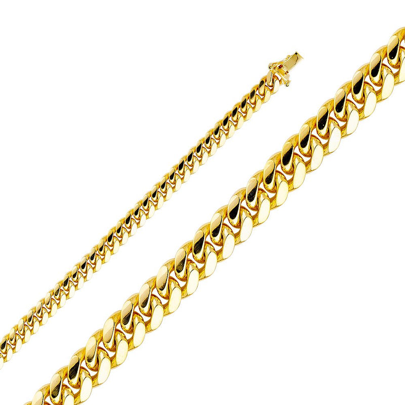 CERTIFIED 14k Yellow Gold Solid Men's 6.5mm Miami Cuban Curb Chain Necklace