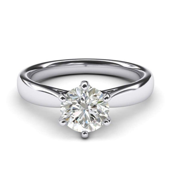 CERTIFIED 3.30 ctw Sterling Silver Classic 6-Prong Solitaire Engagement Bridal Ring