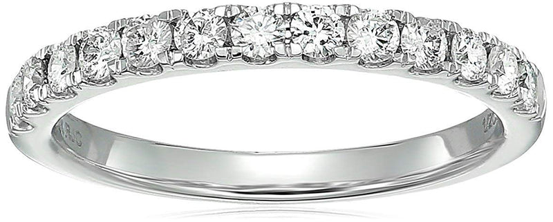 CERTIFIED 1/2 cttw Certified Diamond Wedding Band 14K White Gold Near Colorless (H-I)