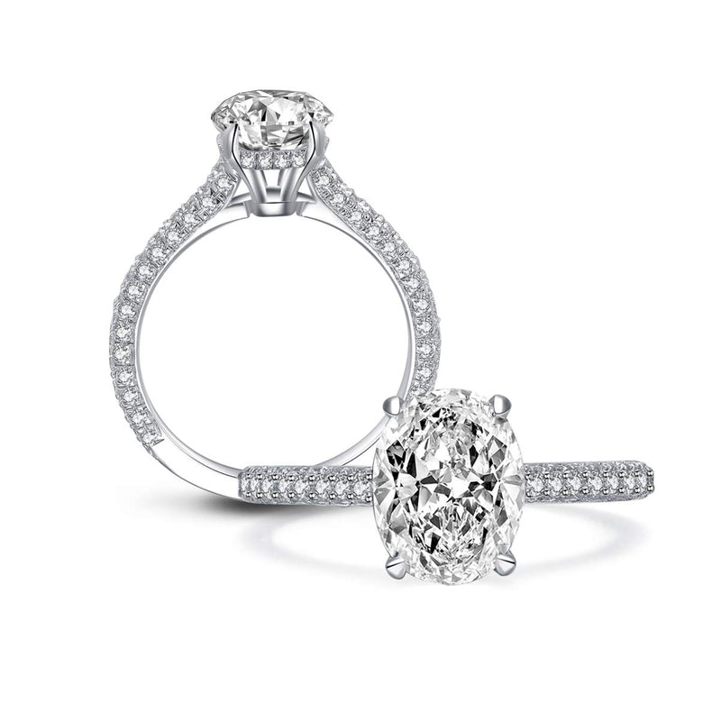 CERTIFIED 2ct  Engagement Cubic Zirconia Halo Solitaire Sterling Silver Engagement Ring