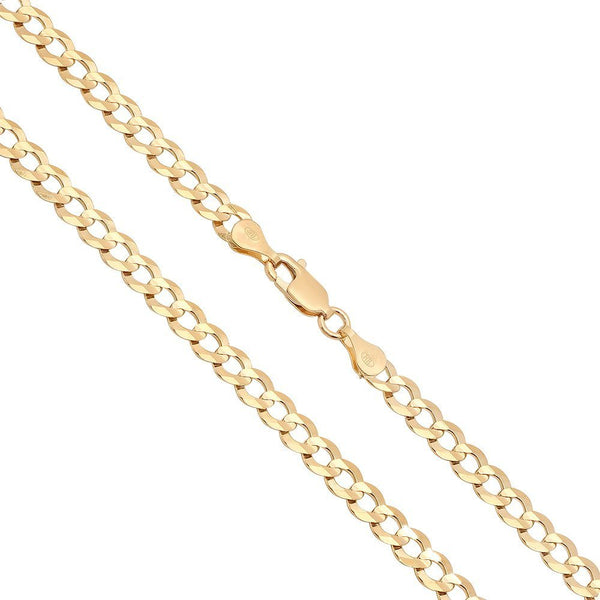 CERTIFIED 5mm 10K Gold Cuban Curb Link Chain Necklace