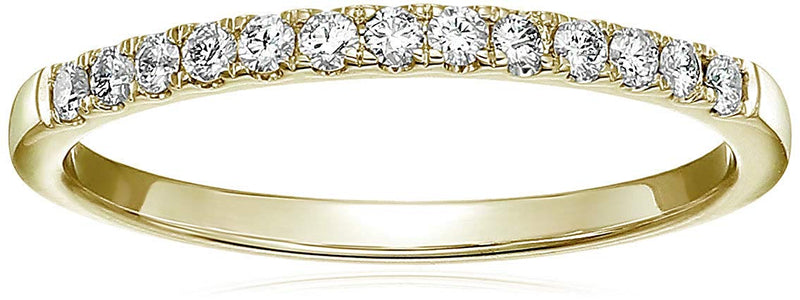 CERTIFIED 1/5 cttw Pave Diamond Wedding Band in 14k  Gold