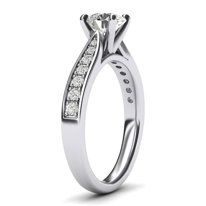 CERTIFIED 1.80 ctw Sterling Silver Classic 4-Prong Flawless CZ Engagement Ring