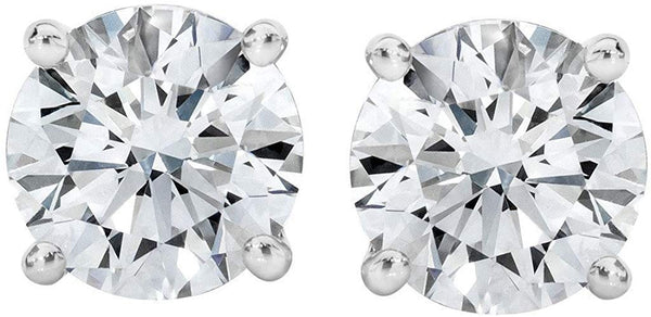 PARIKHS IGI Certified (0.10ct & up) Bright White Round Diamond stud 14K (Color-FGH, Clarity-I2)