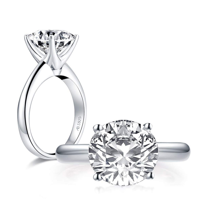 CERTIFIED 3 Carat Cushion/Round Cut Cubic Zirconia CZ Sterling Silver 925 Solitaire Ring