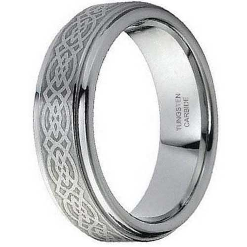 CERTIFIED Tungsten Ring Classic Celtic Band (Many Width)