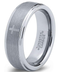 CERTIFIED Tungsten Wedding Band Ring Christian Cross Step Beveled Edge (Many Width)