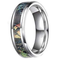 CERTIFIED Tungsten Camo for Couple Summer Leaves Camouflage Inlay Band (Many Width)