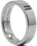CERTIFIED Flat Men's Tungsten Carbide Comfort-fit Wedding Band Ring (Many Width)