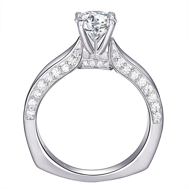 CERTIFIED 1.6 cttw Engagement Wedding Ring Set 925 Sterling Silver Round AAA Cz