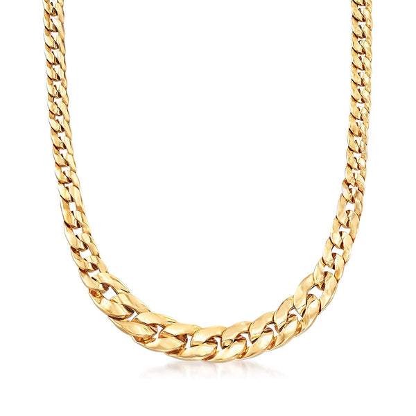 CERTIFIED Ross-Simons Italian 18kt Yellow Gold Graduated Curb-Link Necklace