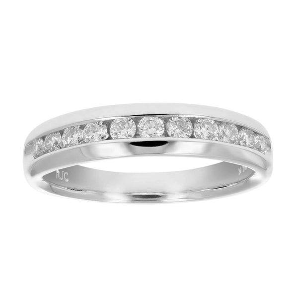 CERTIFIED  1/2 cttw Comfort Fit Diamond Wedding Band in 14K Gold