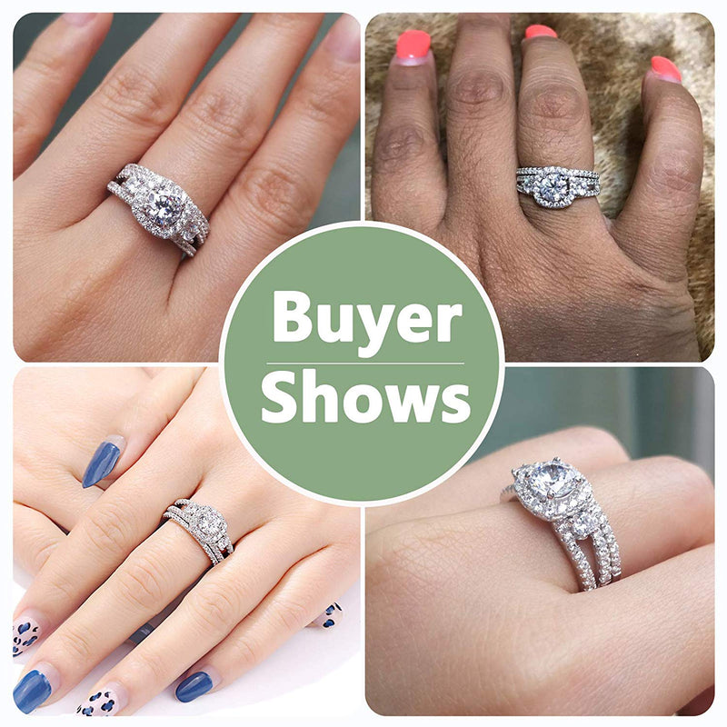 CERTIFIED Engagement Rings Wedding Bands Cubic Zirconia Ring 925 Sterling Silver