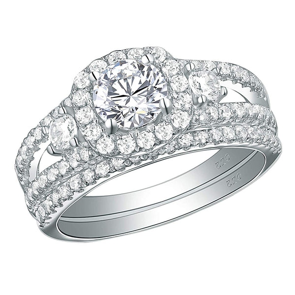 CERTIFIED 1.50 cttw Engagement Rings  Wedding Bands Cubic Zirconia Ring Sterling Silver Round