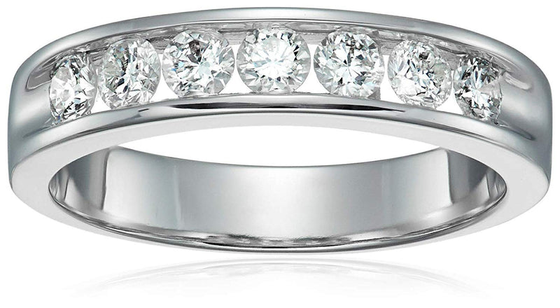 AGS CERTIFIED 1 cttw 14K Men's Classic Diamond Wedding Band Near Colorless (G-H)