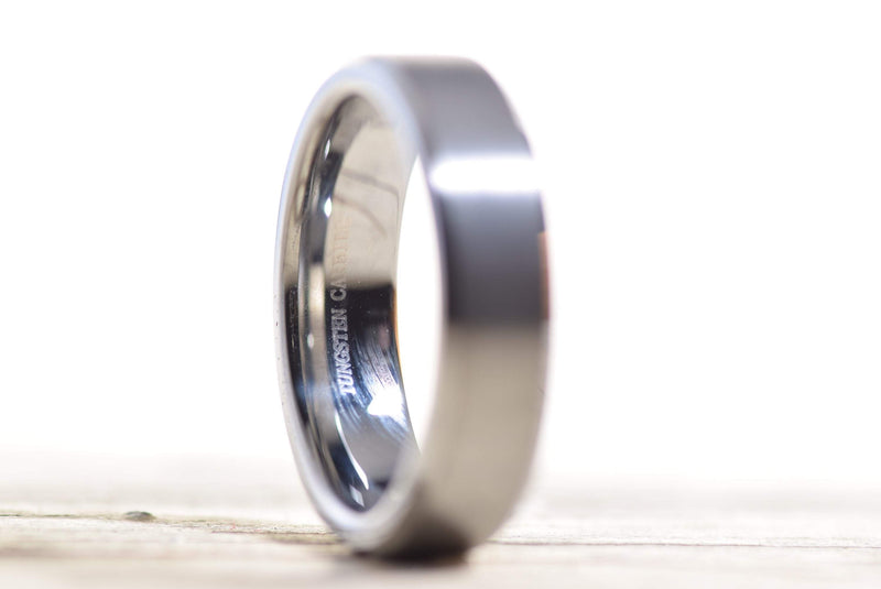 CERTIFIED 6mm Tungsten Wedding Band Ring Comfort Fit Beveled Edge Polished.
