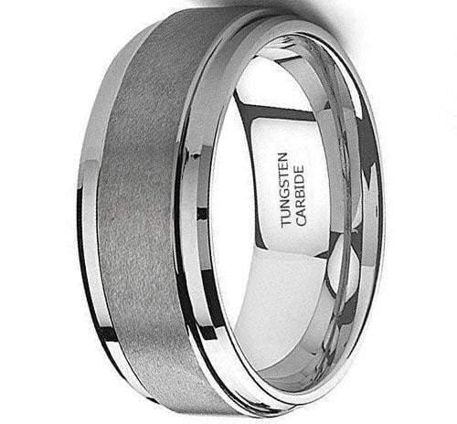CERTIFIED 9MM Tungsten Metal Men's Wedding Band Ring in Comfort Fit and Matte Finish