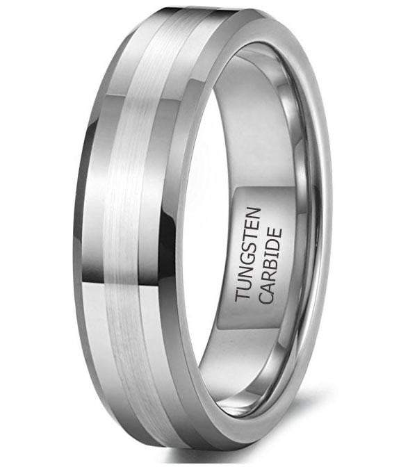 CERTIFIED 6mm Tungsten Rings Engagement Promise Matte Finish