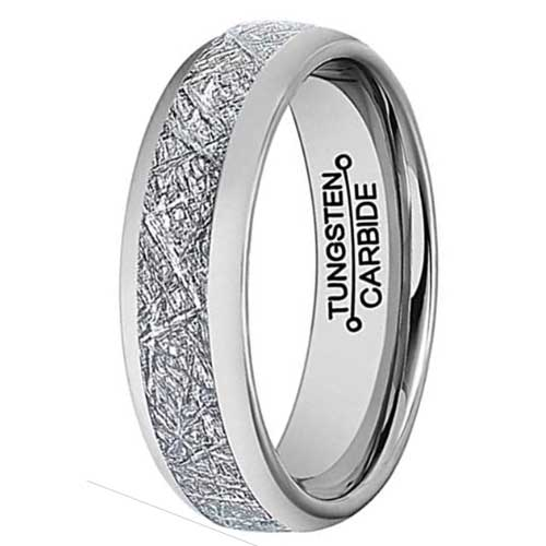 CERTIFIED Tungsten Carbide Ring Vintage Meteorites Wedding Engagement (Many Sizes)