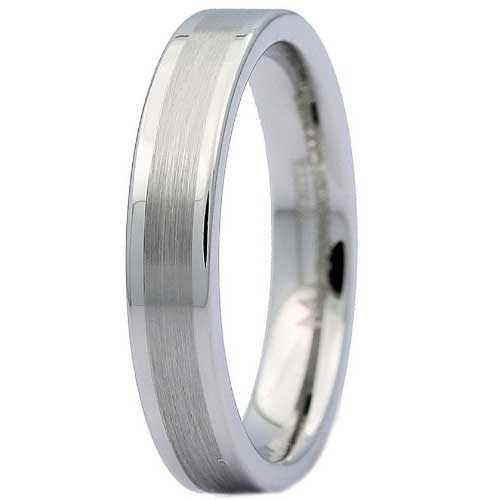 CERTIFIED Flat Brushed Tungsten Wedding Band (Many Width)